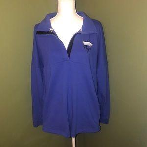Women's size large VS Pink 1/4 button sweat shirt